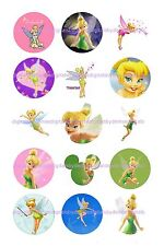 "TINKERBELL 15 BOTTLE CAP IMAGES  1"" CIRCLES *****FREE SHIPPING*****"