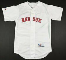 VTG Majestic Boston Red Sox Baseball Jersey Mens S White Team MLB USA Made