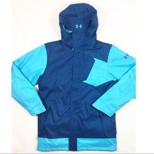 Under Armour ColdGear Storm Infrared Ski Snowboard Jacket Blue Size Medium