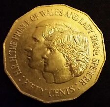 1981 AUSTRALIA 50 CENT Prince Charles and Lady Diana Spencer Coin