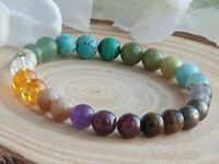 PROSPERITY, ABUNDANCE & WEALTH - CRYSTAL HEALING GEMSTONE BRACELET
