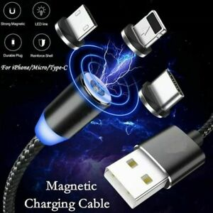3in1 Magnetic Super Fast Charging USB Cable Charger Phone USB-C Micro USB iPhone