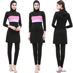Muslim Modest Women Swimwear Full Cover Burkini Islamic Swimming Costumes Arab
