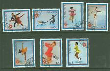 Paraguay A33 1983 used 7v Sports Olympics FIGURE SKATING