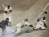 *Rare* Vintage Collector's Item Jackie Robinson Stealing Home May 15, 1952 MLB
