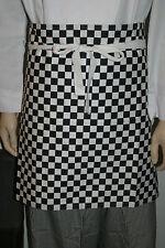 Hospitality Chefs waiter Black / White Checkered Half Apron