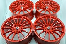 "17"" red wheels rims Accord Sportage Soul Forte Amanti Veloster Civic RSX 5x114.3"