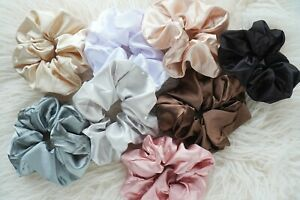 Large Silk Scrunchies Hair Band Mulberry Silk Satin Hair Tie Elastic Bobble Gift