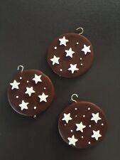 2 biscotti biscotto pan di stelle piccolo polimery clay handmade fimo ciondoli