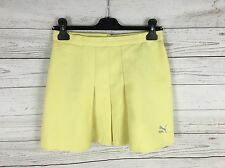 Womens Puma Retro Pleated Tennis Skirt - W26 - Yellow - Great Condition