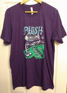 Phish Jim Pollock Hershey Pennsylvania 2021 Summer Tour T-Shirt Size L New