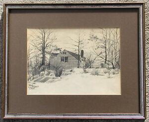 Frank Liljegren House in Winter Landscape