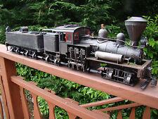 4 Truck Logging Shay Locomotive - DCC, sound, lights, smoke - custom weathered