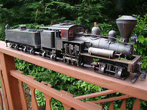 4 Truck Logging Shay Locomotive - DCC, sound, lights, smoke - custom weathered-