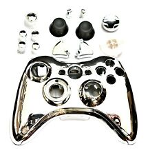 New Chrome Silver Shell Repair Kit for Microsoft XBox 360 Wireless Controller UK