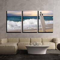 """Wall26 - Surfboard on Fuerteventura Beach - CVS - 16""""x24""""x3 Panels"""