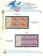 U.S. Comm Plate Blocks: 894 Pony Express & 896 Idaho-MNH-OG
