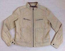 Ralph Lauren Equestrian Motorcycle Leather Denim Zip-Down Denim-Leather Jacket