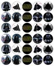 30 x Star Wars Darth Vader Cupcake Toppers Edible Wafer Paper Fairy Cake Topper