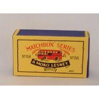 Matchbox Lesney 58 a AEC 'BEA' Coach empty Repro B style Box