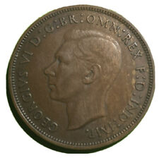 More details for 1946 1d king george vi one dot penny variety a better grade than usual