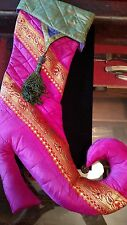 Collectable Unusual Fancy Pink Christmas Stocking