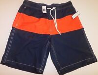 NWT GAP Men's Swimsuit Pool Shorts Navy Blue/Red Small MSRP$35 Free Shipping New