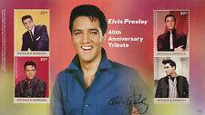Antigua & Barbuda 2017 MNH Elvis Presley 40th Anniv 4v M/S I Music Stamps