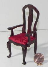 Dollhouse Miniature Red Chair 1:12 Scale