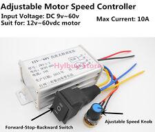 DC9v~60v 10A Motordrehzahlsteuerung Speed Controller Für 12v 24v 36/48v DC Motor