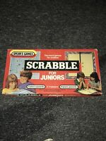 Vintage Scrabble For Juniors Board Game Two Word Games In One By Spears Games