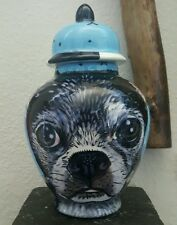 New listing Custom Pet urn for ashes Boston terrier Dog urn cremation Small ash urns dogs