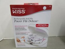 KISS RECHARGEABLE NAIL FILE POWER FILE DELUXE 15 PIECE SYSTEM #02464 MM 295M