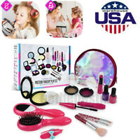 Girls Make Up Toy Set Pretend Play Beauty Princess Dressing Cosmetic Travel Bag