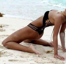 Costume Da Bagno intero Aperto Monokini Nudo slim sling Swimwear Swimsuit L