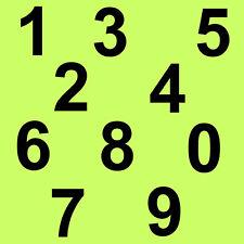 """6 cm """" Set 0 bis 9 """" Schwarz matt SA-81 Zahlen Aufkleber Klebezahlen Ziffern"""
