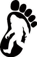 Yeti Bigfoot Footprint Sasquatch Vinyl Decal Sticker for Car Truck Jeep 4x4