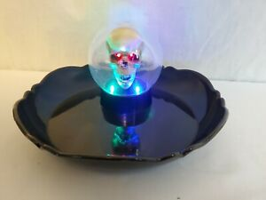 Vintage Halloween Gemmy Animated Talking Motion Activated Skull Chip Candy Tray