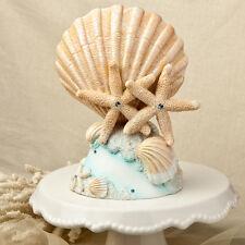 Starfish Seashell Beach Theme Top Cake Topper Wedding Centerpiece