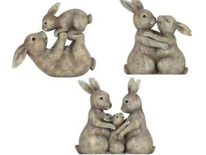 NEW CUTE resin animals Bunny Rabbit Gift Christmas Ornament Home FREE POSTAGE
