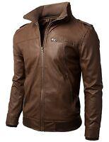 Giacca Giubbotto in Pelle Uomo Men Leather Jacket Veste Blouson Homme Cuir N3e
