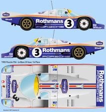 1983 LeMans winning Rothmans Porsche 956 1/24 scale water transfer decals Tamiya