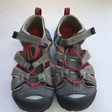 Keen Youth Shoes Sz 4 Red Gray Contour Arch Anti-Odor Anatomic Footbed