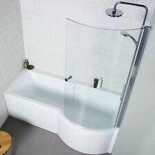 P Shape Right Hand 1700 Shower bath 5mm Acrylic