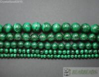 Grade AAA Natural Malachite Gemstone Round Beads 4mm 6mm 8mm 10mm 12mm 15.5""