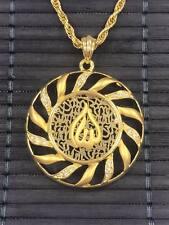 Allah Goldkette Gold Münze inkl Halskette Kette Strass 24 Karat GP Altin Kaplama
