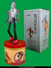 Jitter-bug tin dancer jigger Chime Toys USA black Americana toy