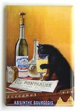 Absinthe Black Cat Fridge Magnet alcohol poster