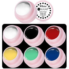 6Colors Painting Draw UV Gel Nail Art Polish Acrylic Tips Decoration Black White