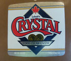 VINTAGE CANADIAN BEER LABEL - LABATTS BREWERY, CRYSTAL CLEAR LAGER 341ML